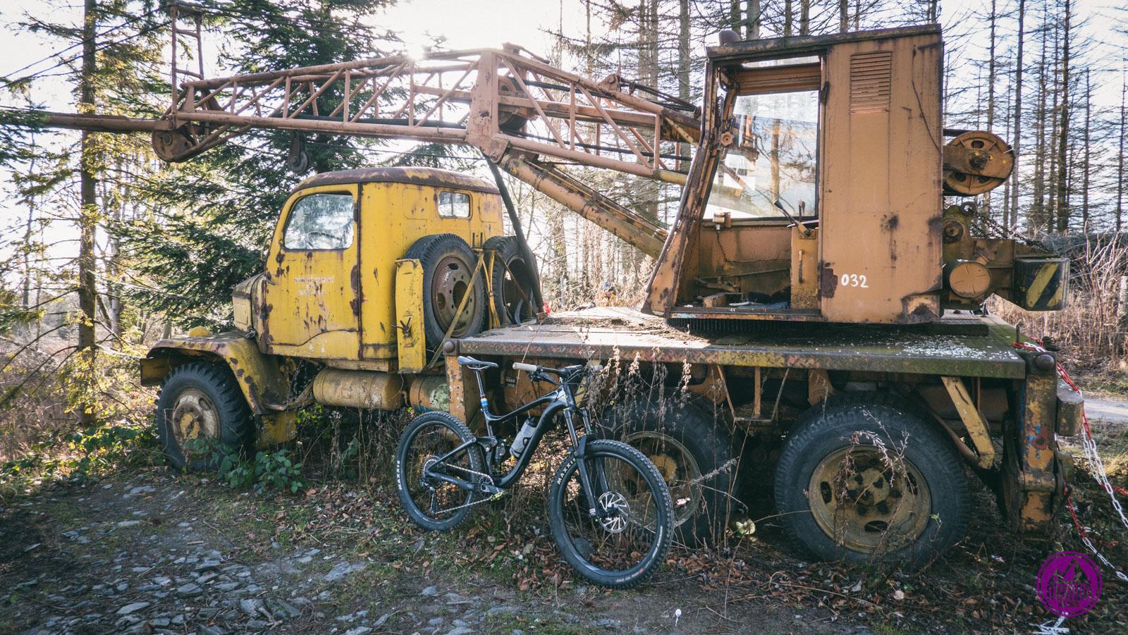 Traktor z rowerem
