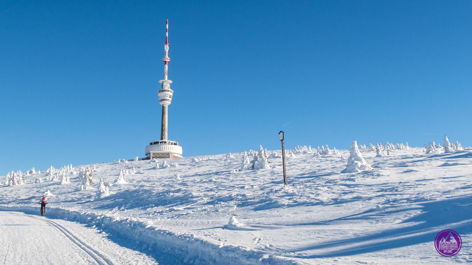 Zimowa wycieczka rowerowa - Pradziad.