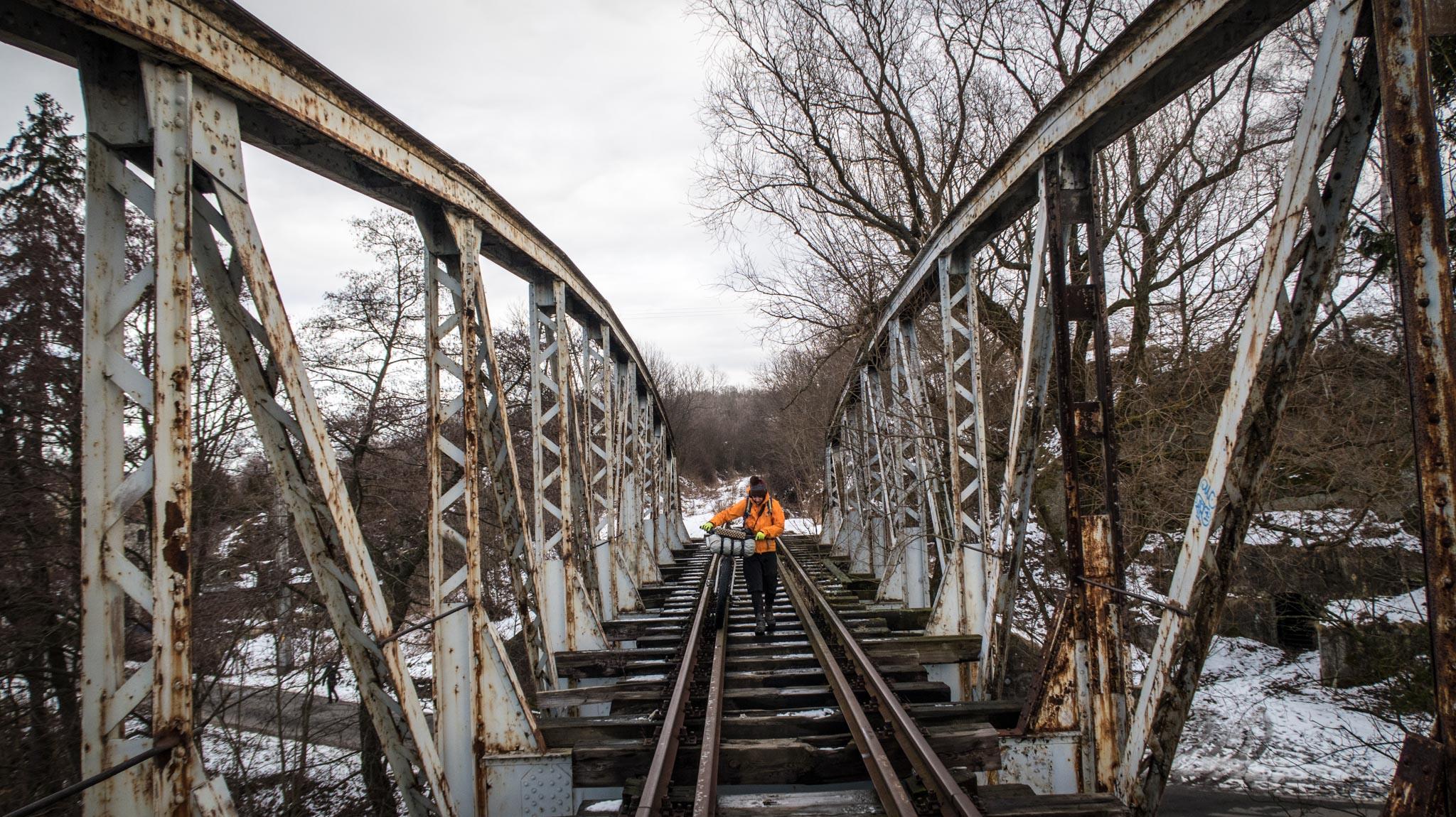 Stary most kolejowy.