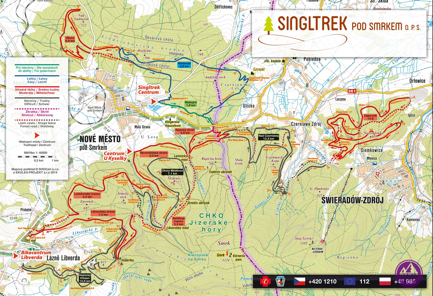 mapa ścieżek