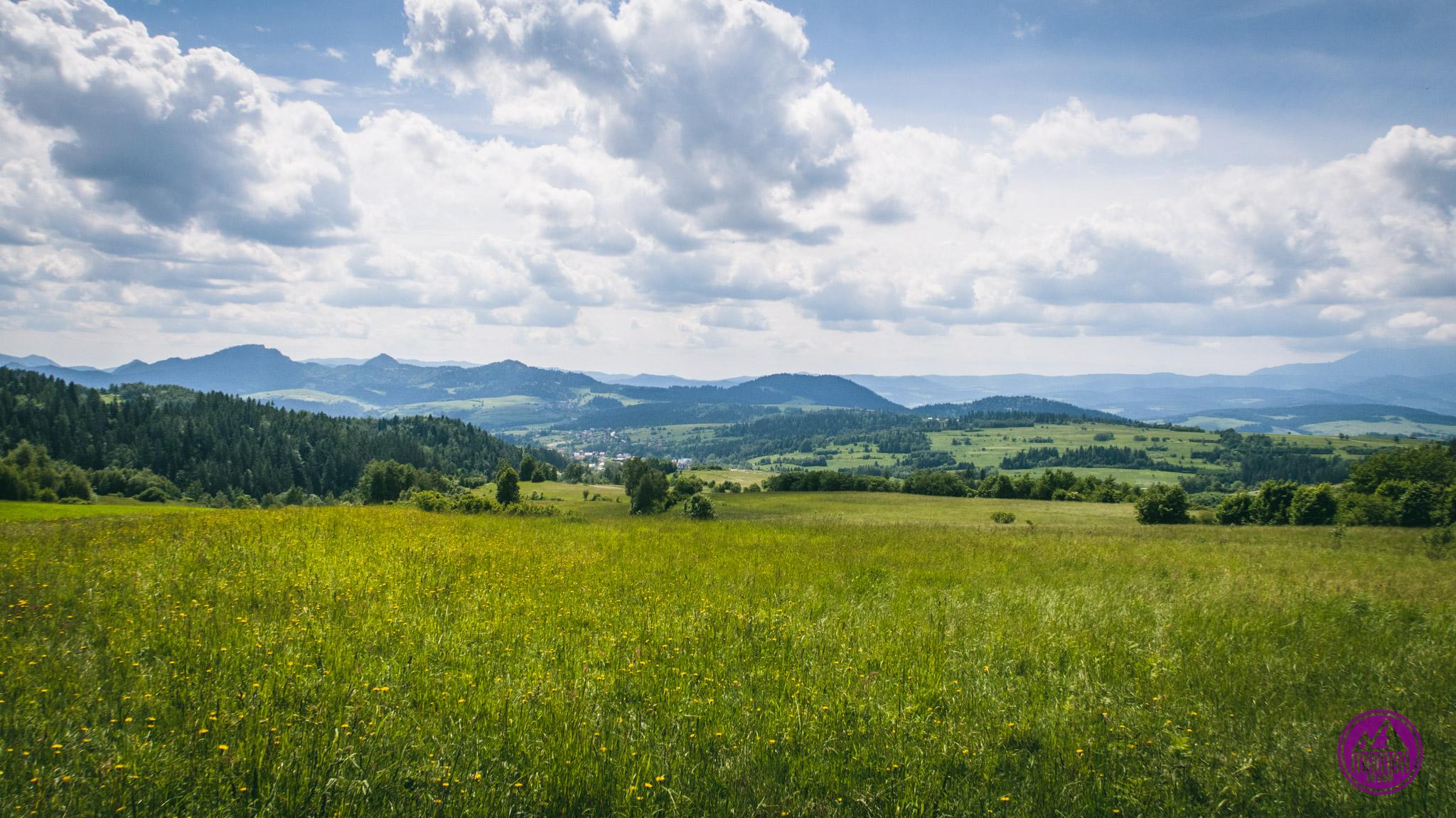 Kluszkowce - widok na góry