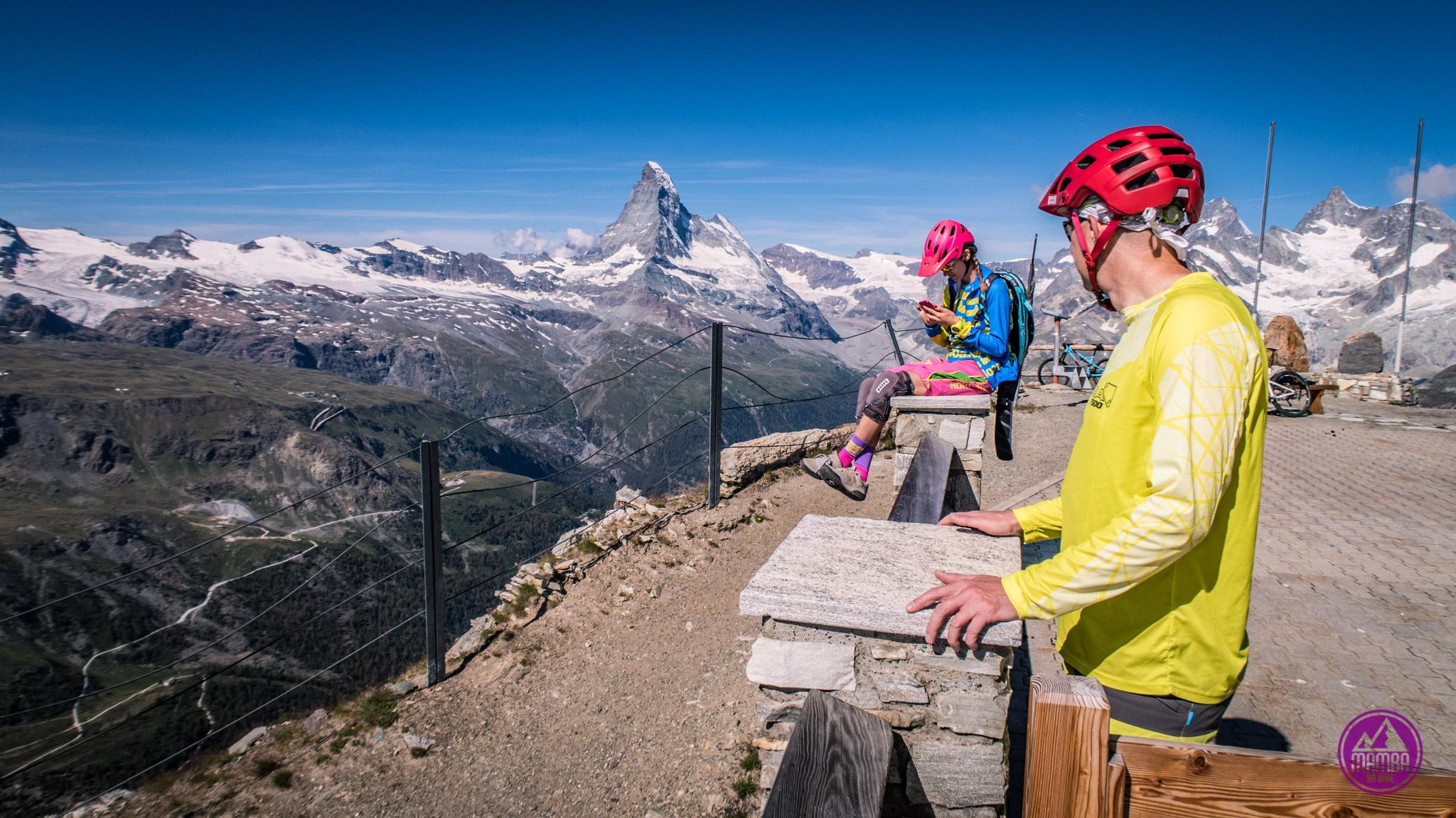 Heli biking Zermatt -