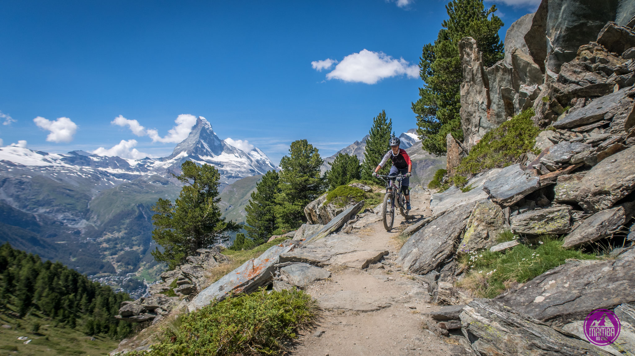 Heli biking Zermatt - troche ekspozycji