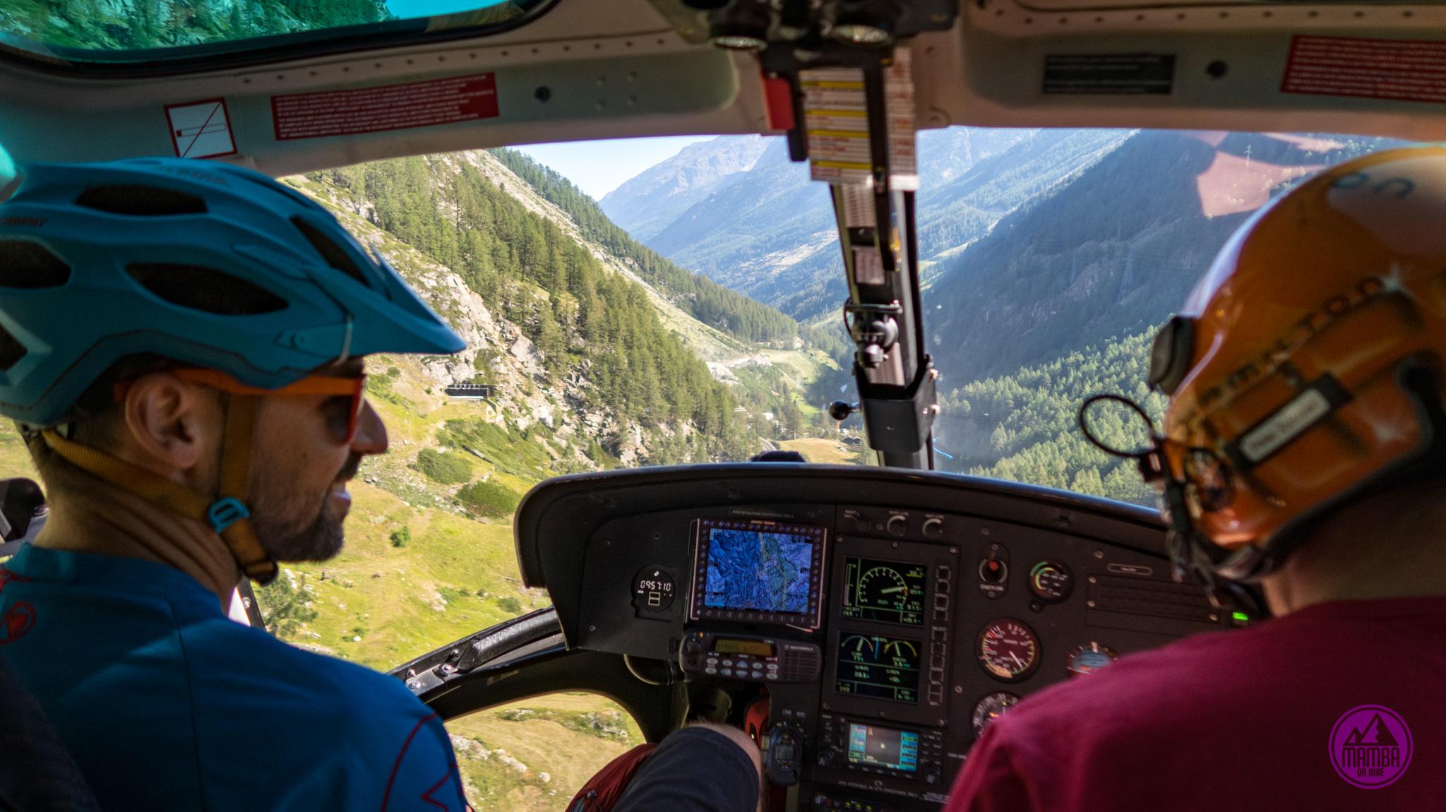 Heli biking - w helikopterze