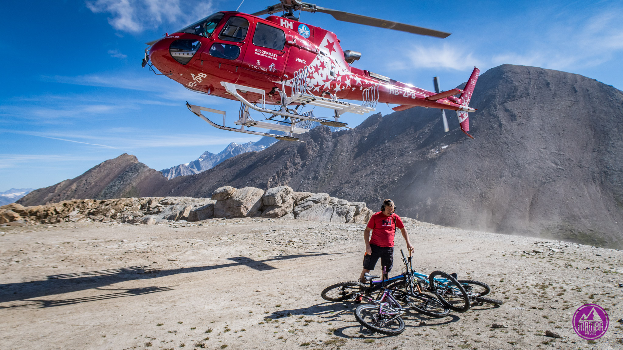 Heli biking - lądowanie