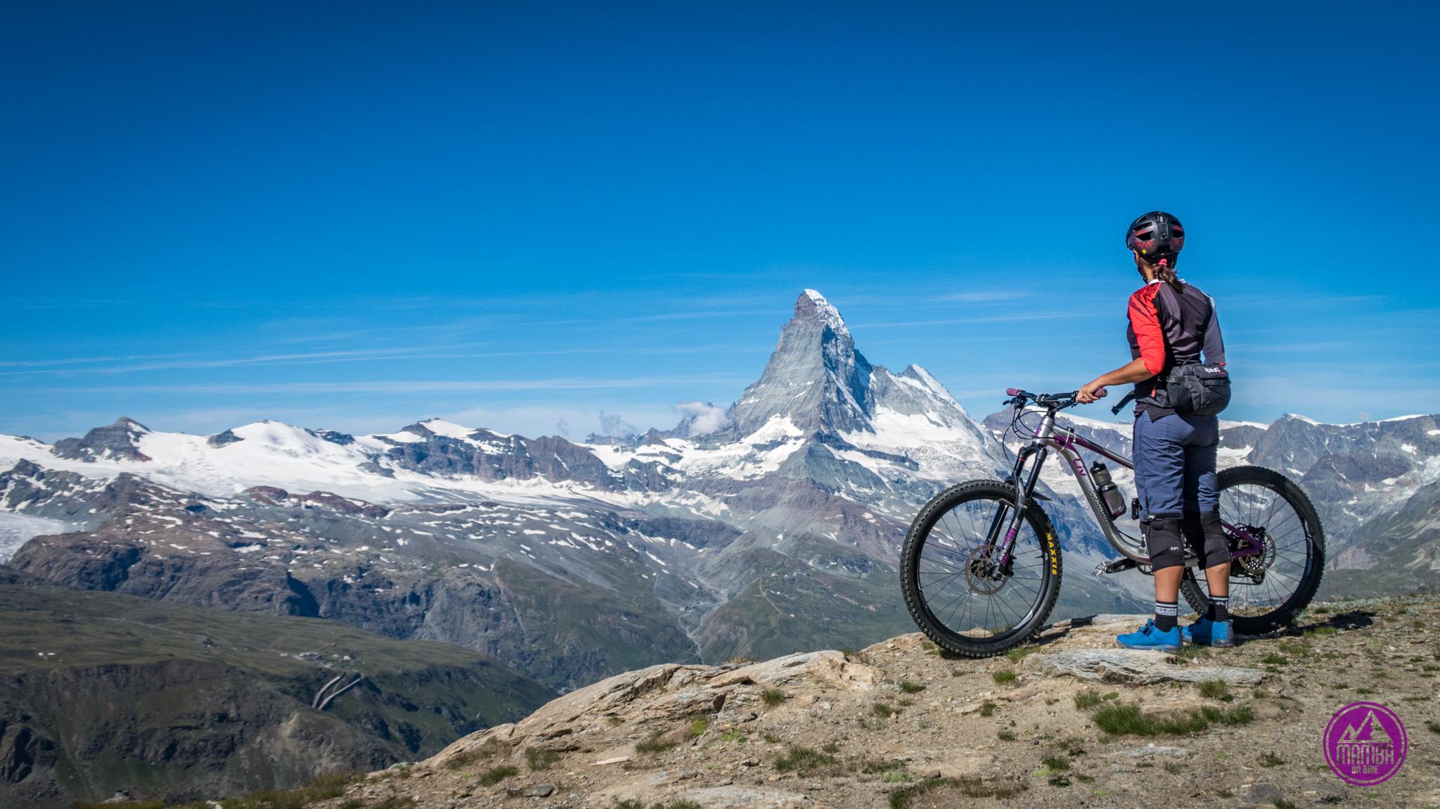 Heli biking -z widokiem na Matterhorn