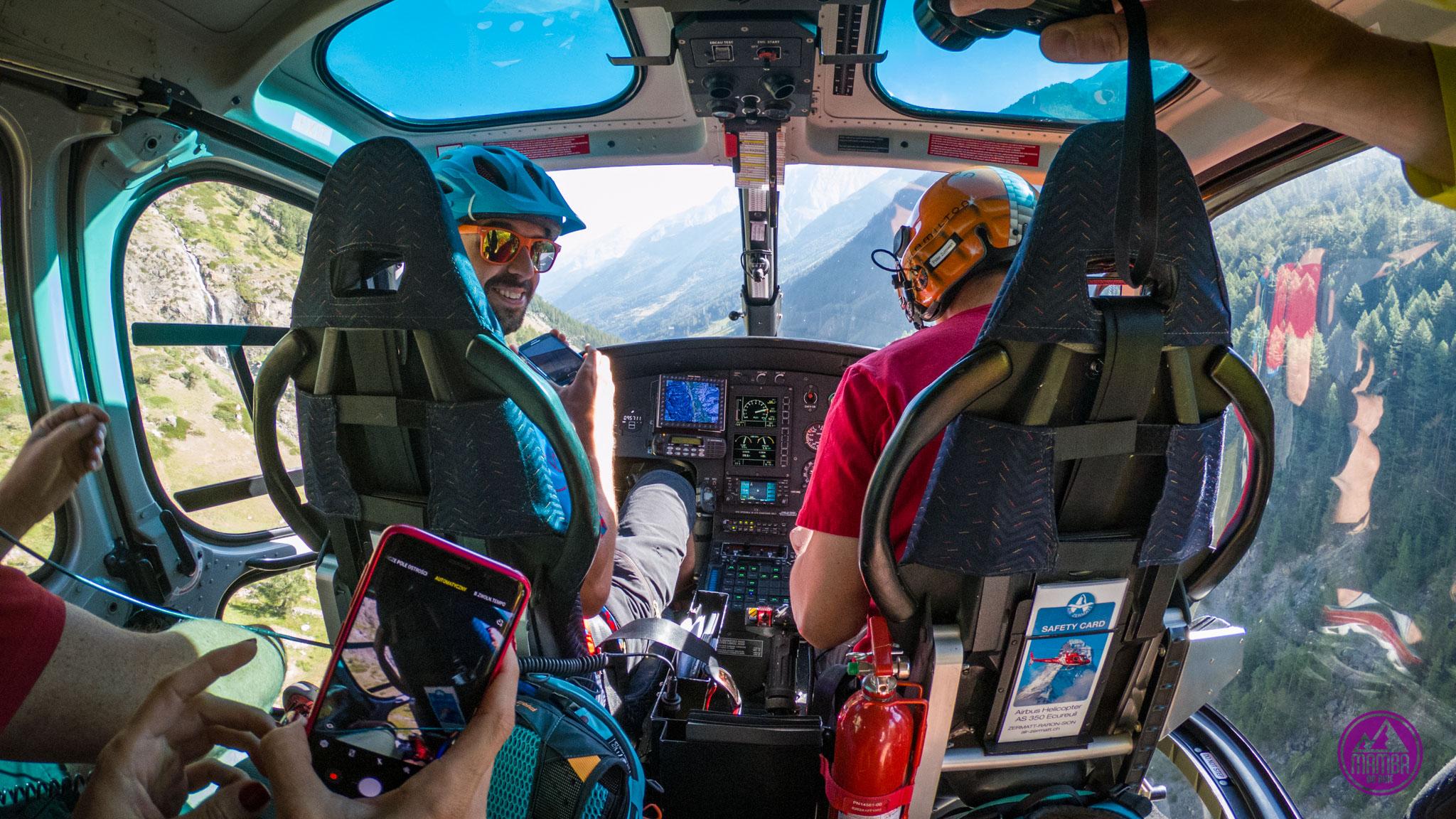 Heli biking - w trakcie lotu