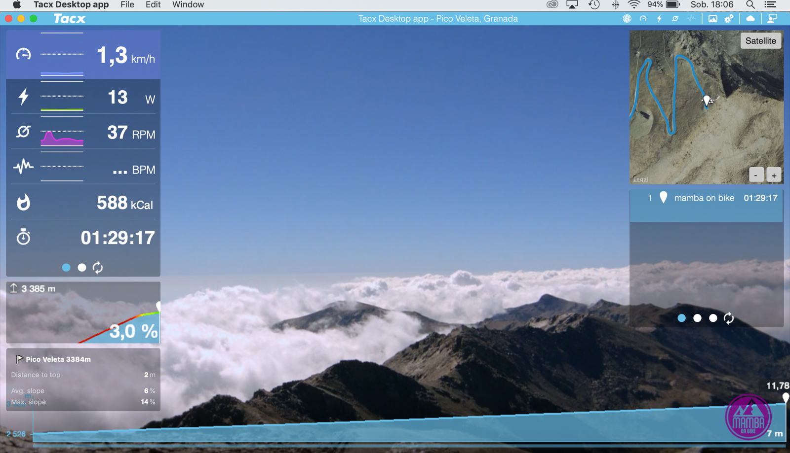 Tacx Desktop App - trasy