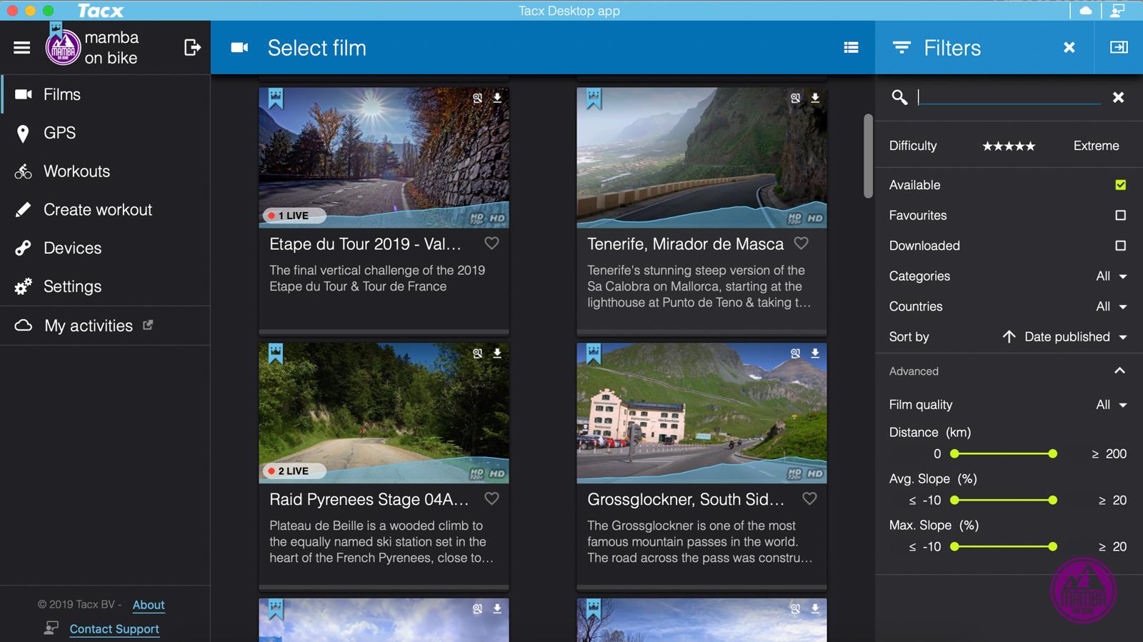 Tacx Desktop App live opponents
