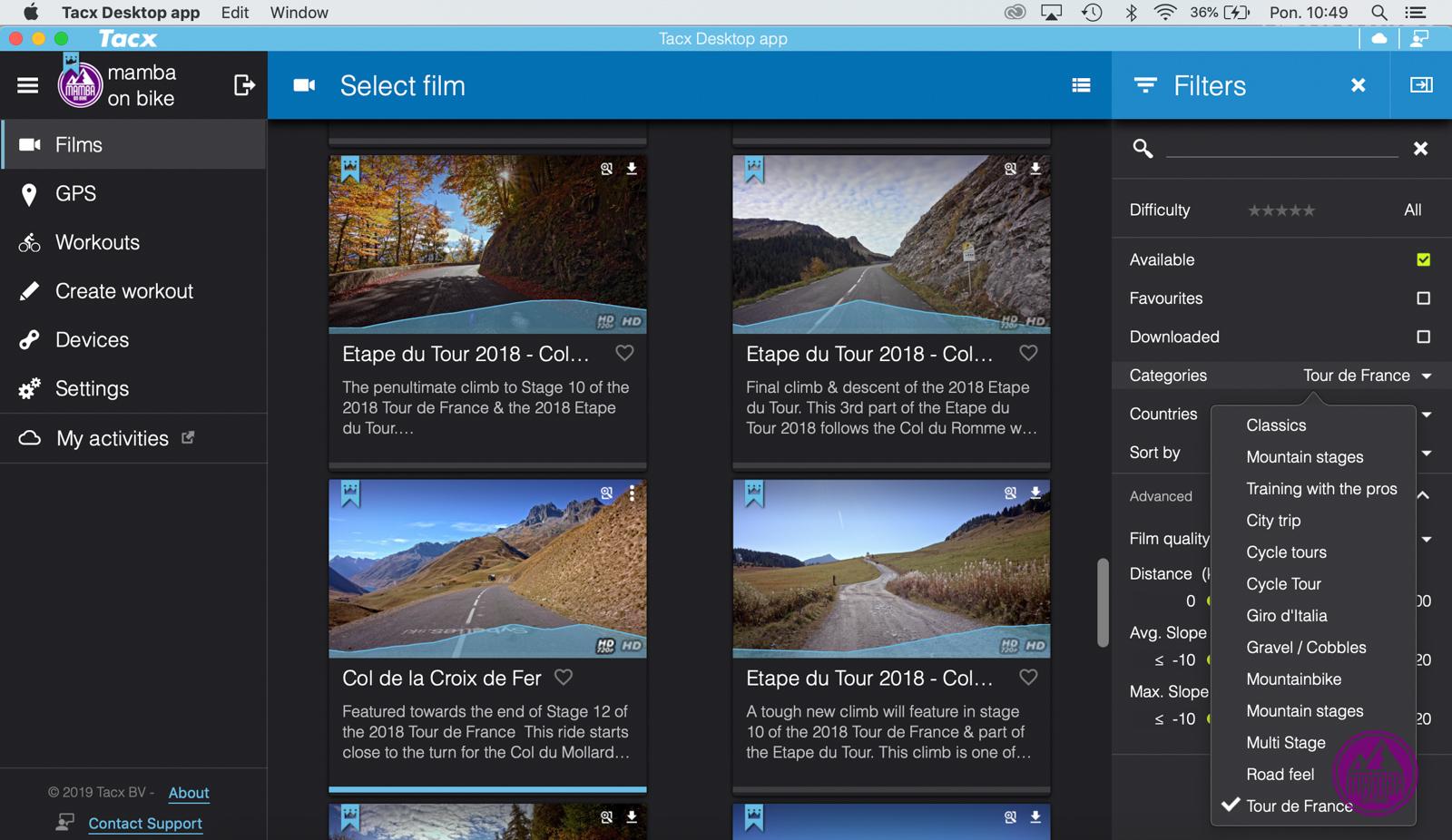 Tacx Desktop App - Giro