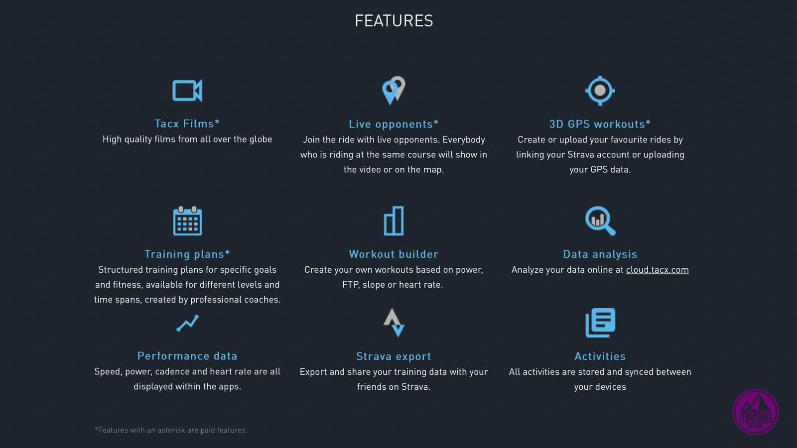 Tacx Desktop App features