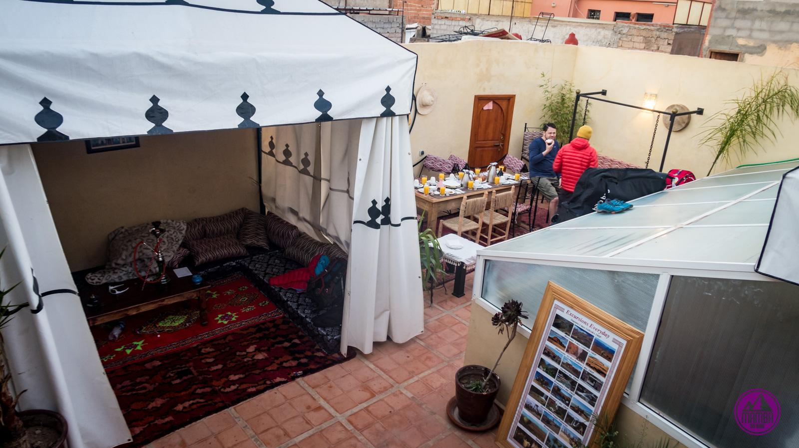 Maroko - śniadanie w hotelu