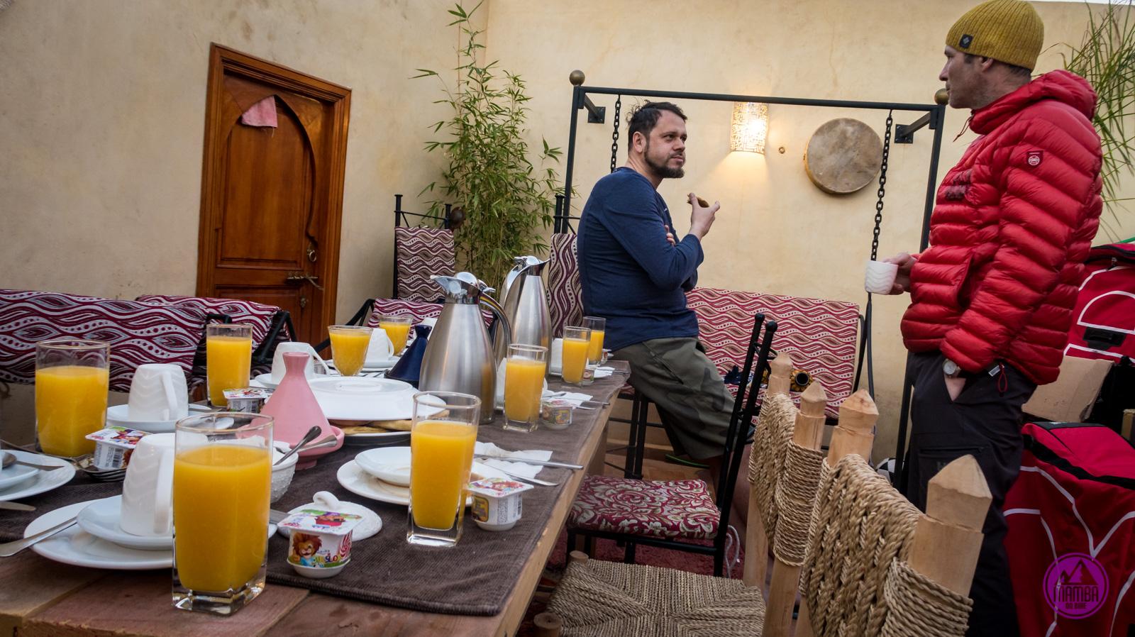 Maroko - śniadanie