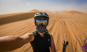 Burza piaskowa na Saharze i 60 km na rowerze