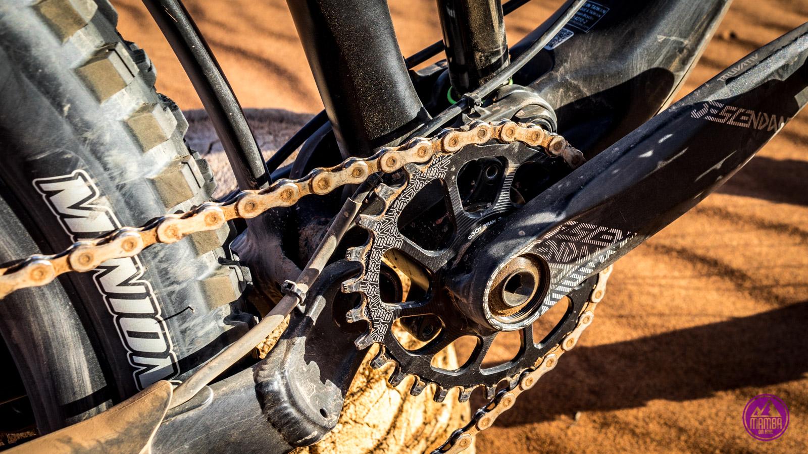 Rower po jeździe w piasku napęd