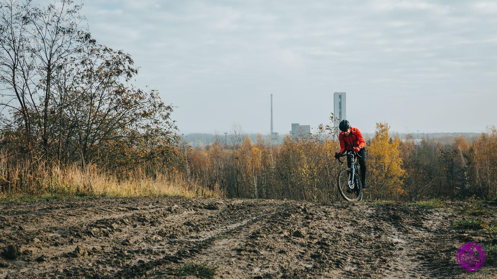 Hałda Makoszowy na rowerze