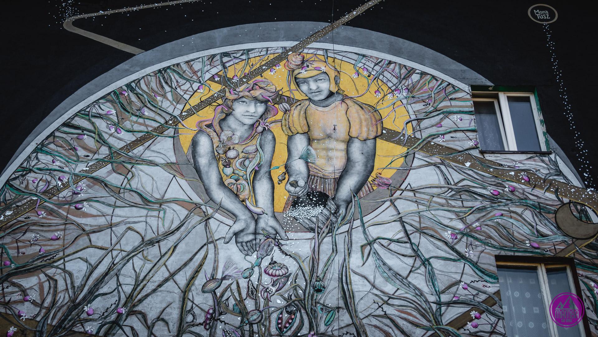 mural katowice flora i florian