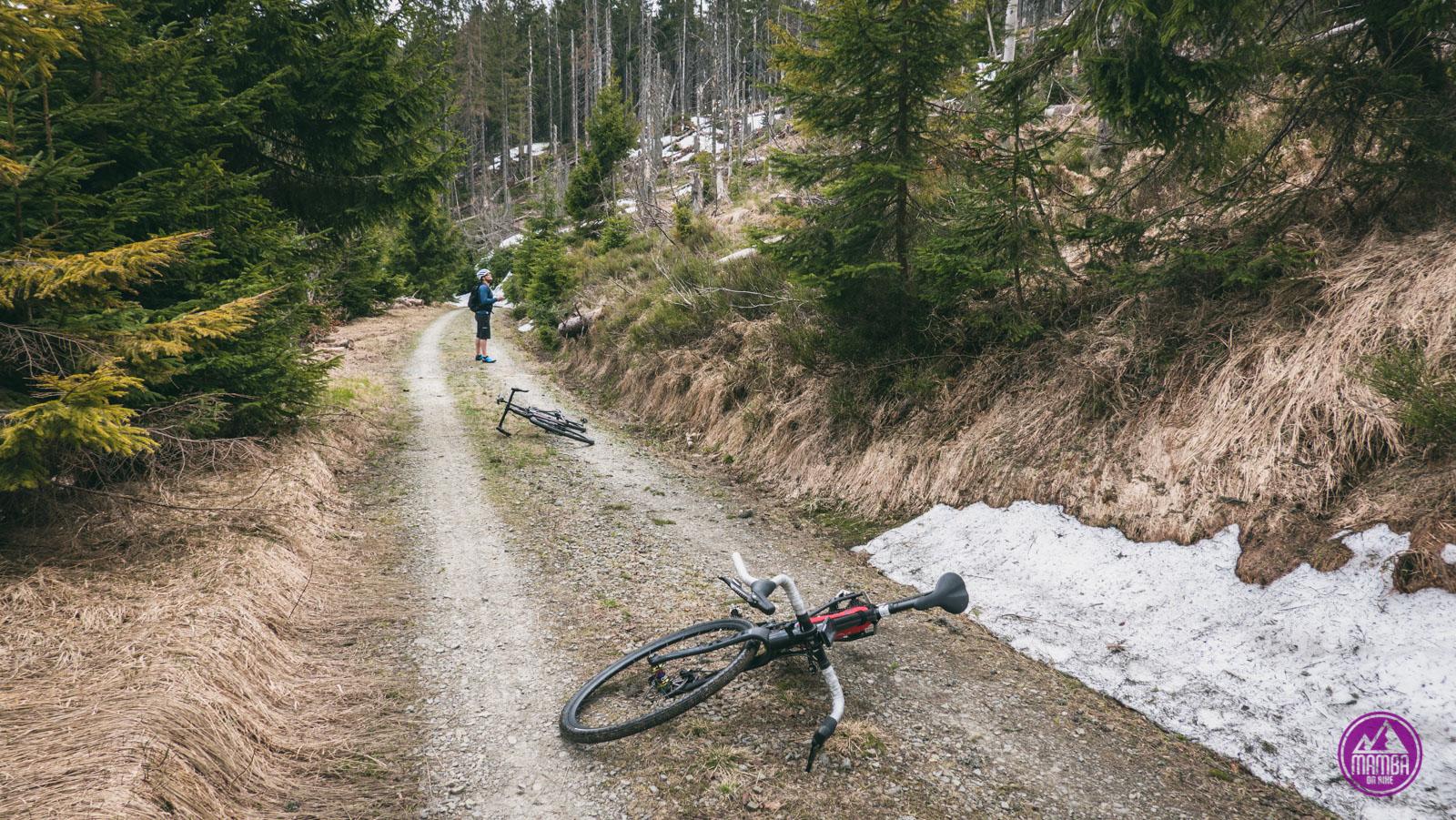 Czerwony szlak rowerowy Gorce