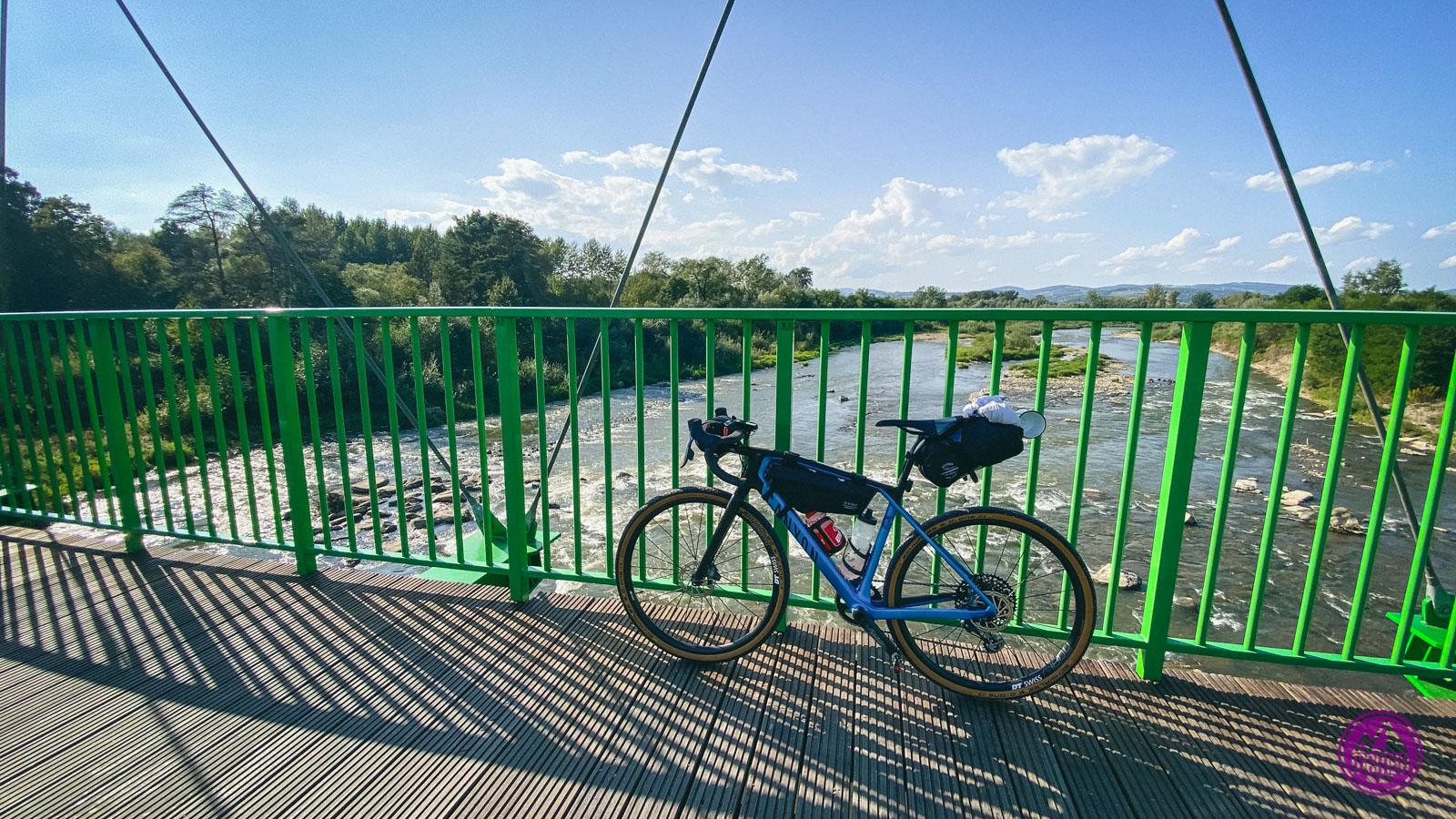 Velo Dunajec kładka nad Popradem