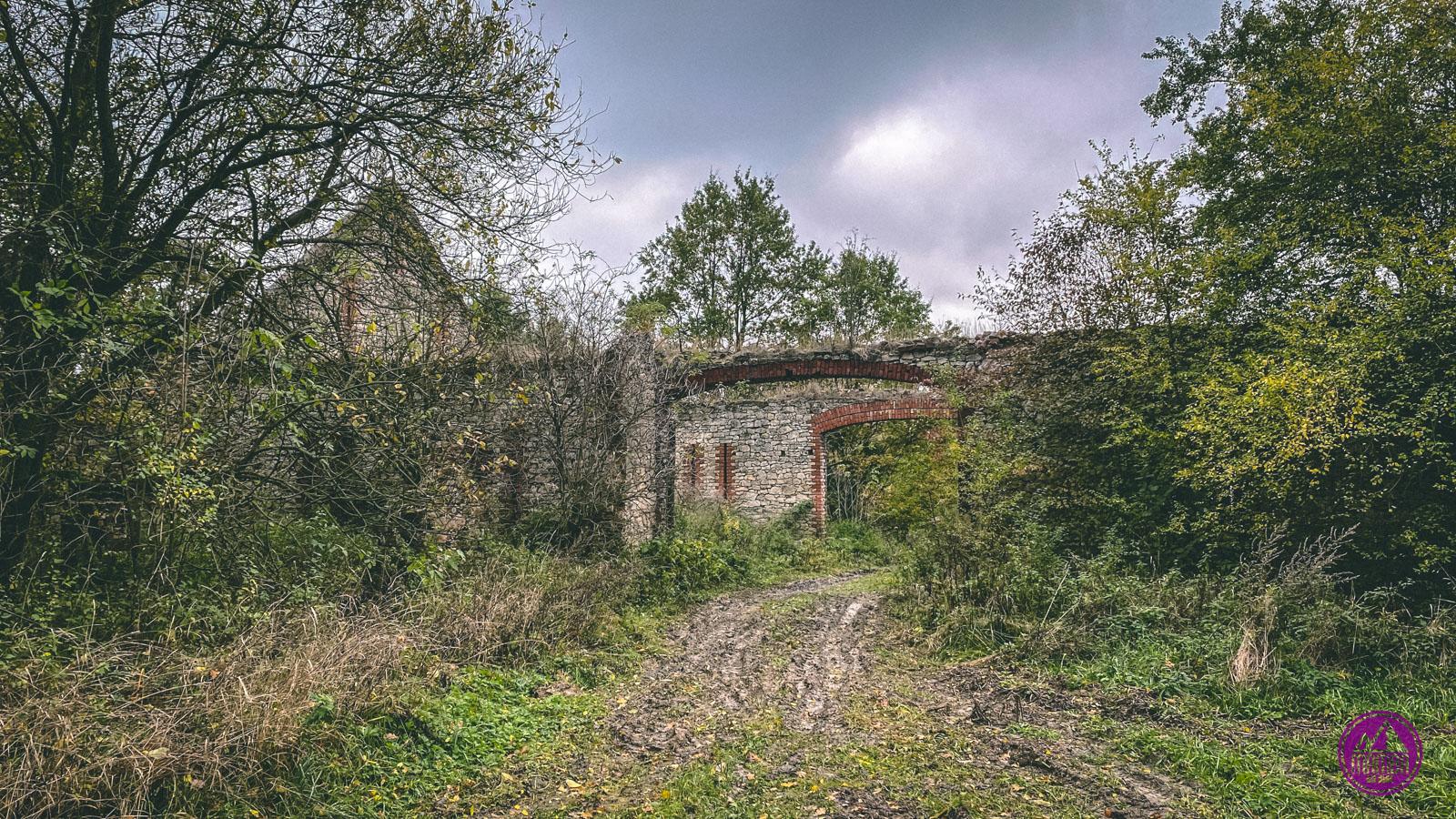 Waldhof - ruiny Folwarku Lesisko