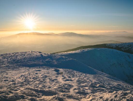 Diablak – Babia Góra zimą z przełęczy Krowiarki – galeria