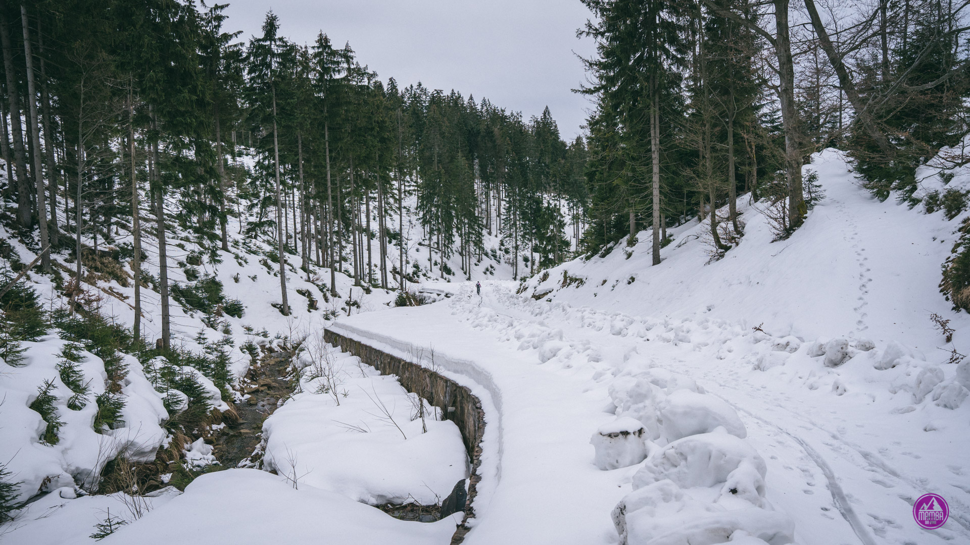 Zima w górach na rowerze