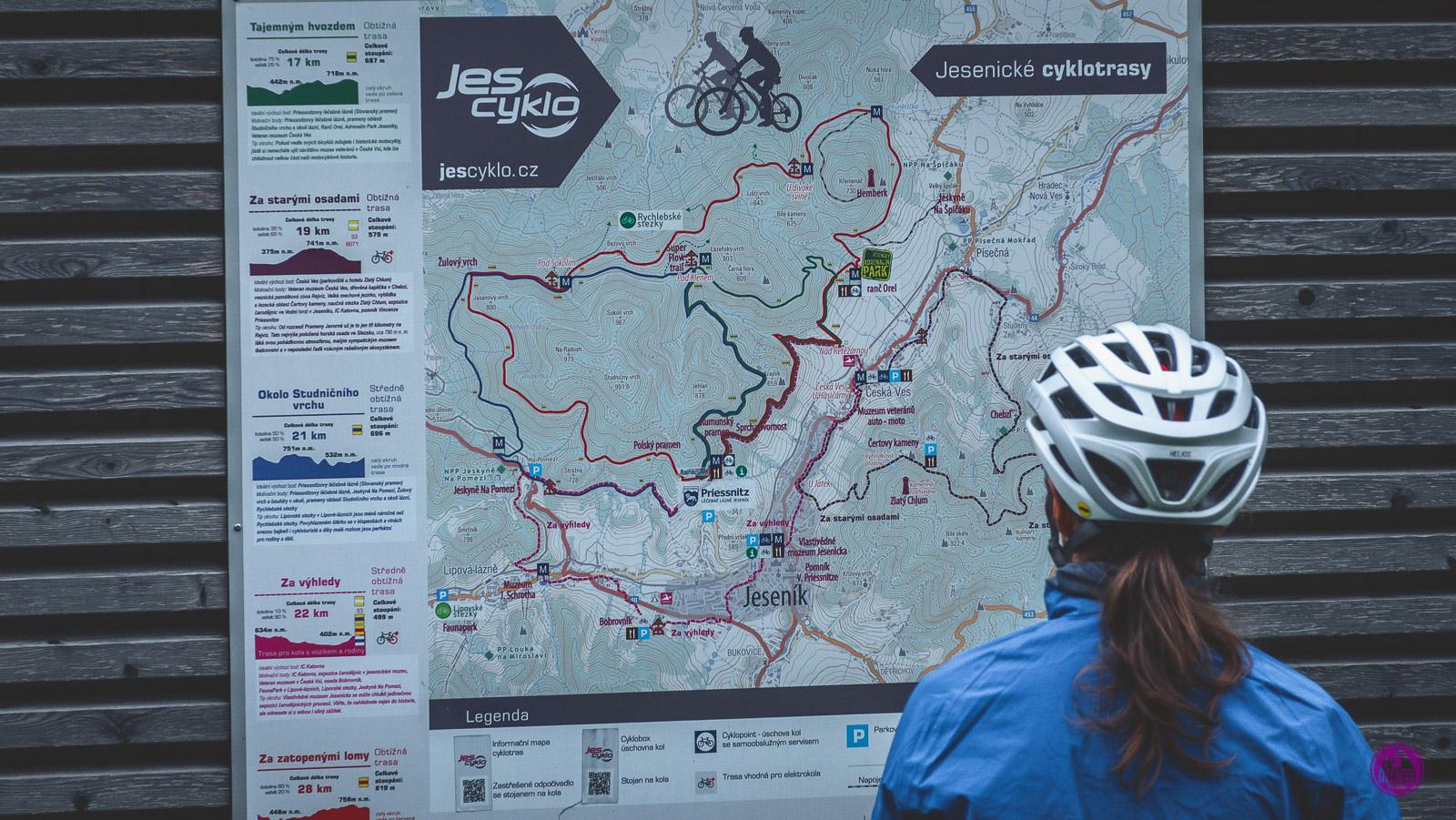 Rychlebskie Hory ścieżki rowerowe